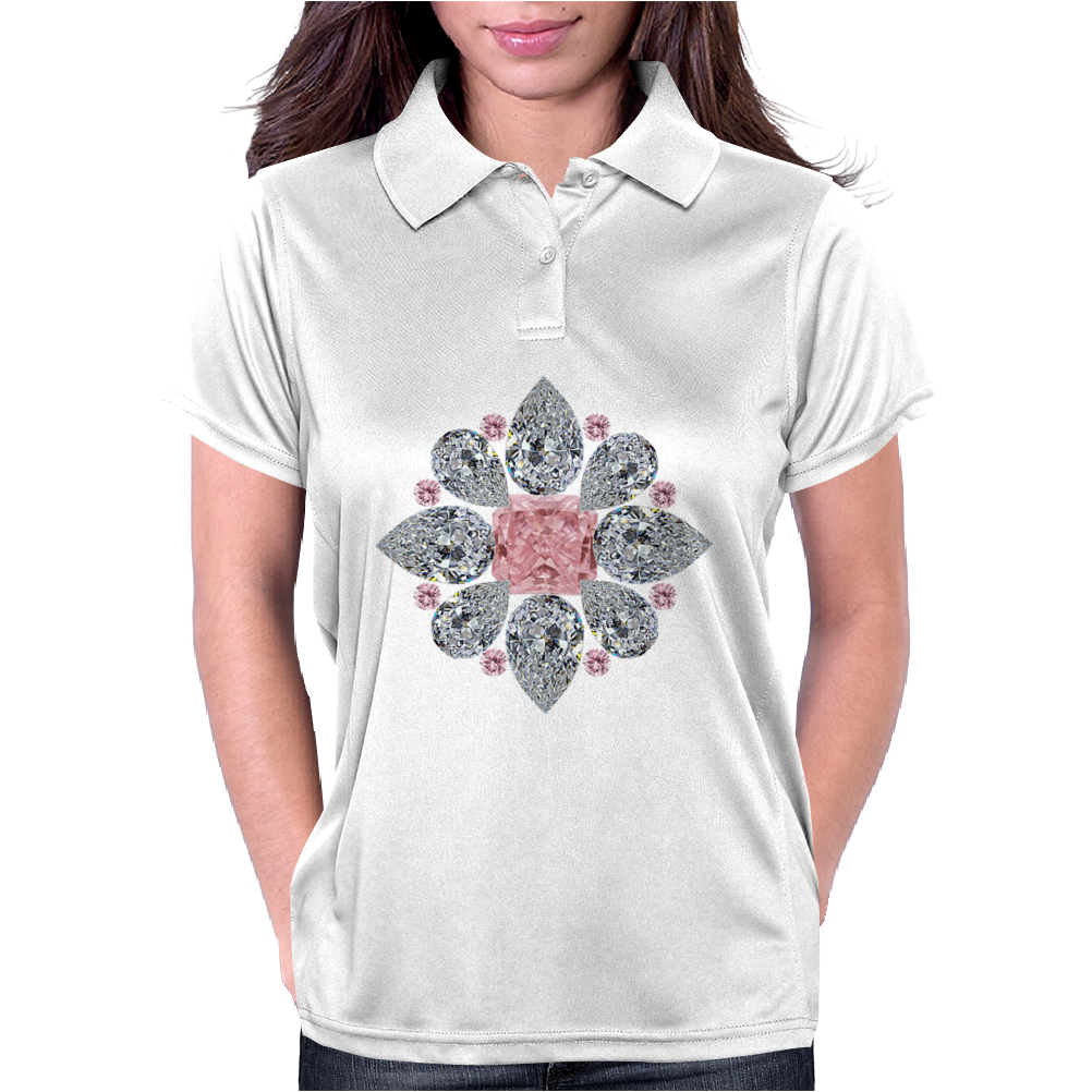 The Tudor Rose Pink Diamond Womens Polo