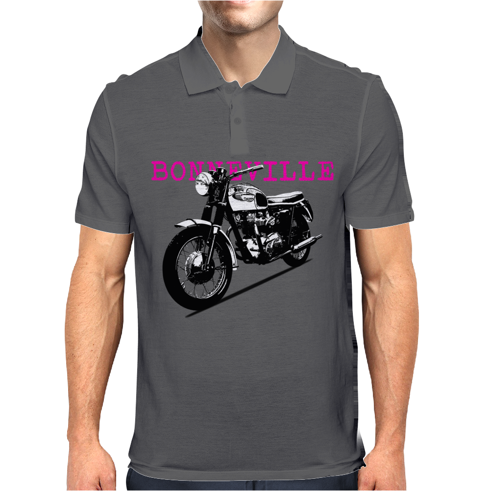 The Vintage Bonneville Motorcycle Mens Polo