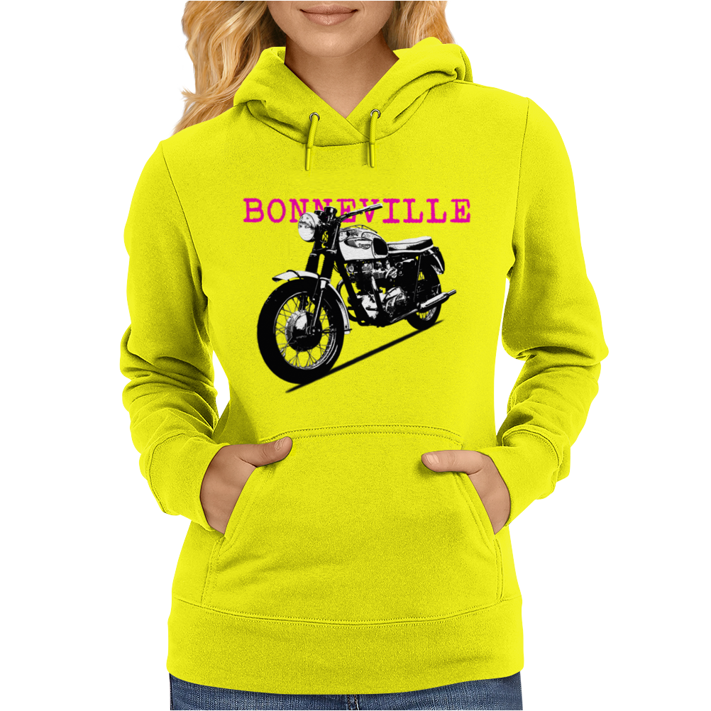The Vintage Bonneville Motorcycle Womens Hoodie