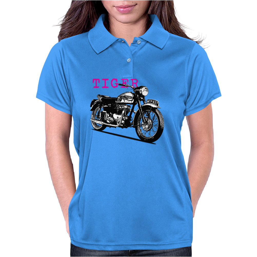 The Vintage Tiger Motorcycle Womens Polo