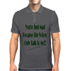 The Voices Clear Background Mens Polo