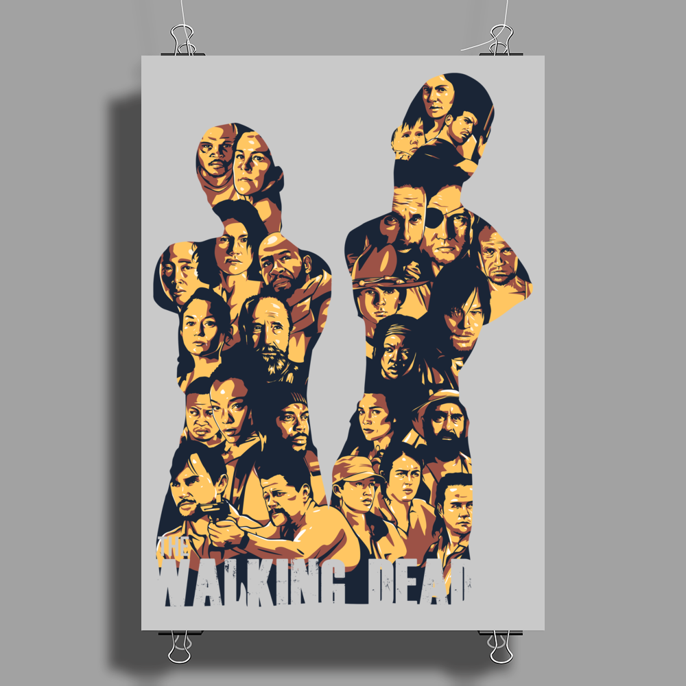 THE WALKING DEAD – ALL CHARACTERS – HOMAGE TO THE AMC TWD SHOW - NEW Poster Print (Portrait)
