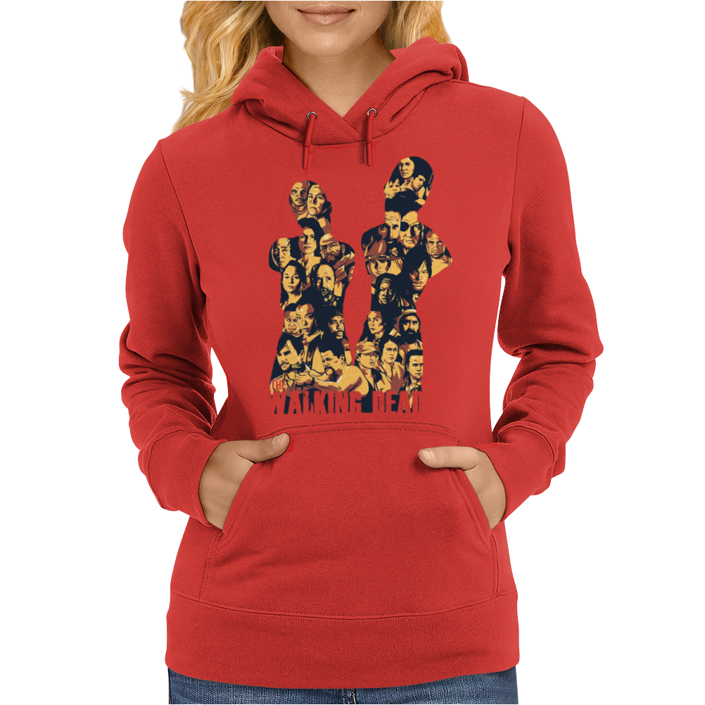 THE WALKING DEAD – ALL CHARACTERS – HOMAGE TO THE AMC TWD SHOW - NEW Womens Hoodie