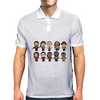 The Walking Dead - Main Characters Chibi - AMC Walking Dead - Manga Dead Mens Polo