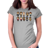 THE WALKING DEAD - MAIN CHARACTERS CHIBI - AMC WALKING DEAD - MANGA DEAD - TRANSPARENT Womens Fitted T-Shirt