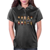 THE WALKING DEAD - MAIN CHARACTERS CHIBI - AMC WALKING DEAD - MANGA DEAD - TRANSPARENT Womens Polo