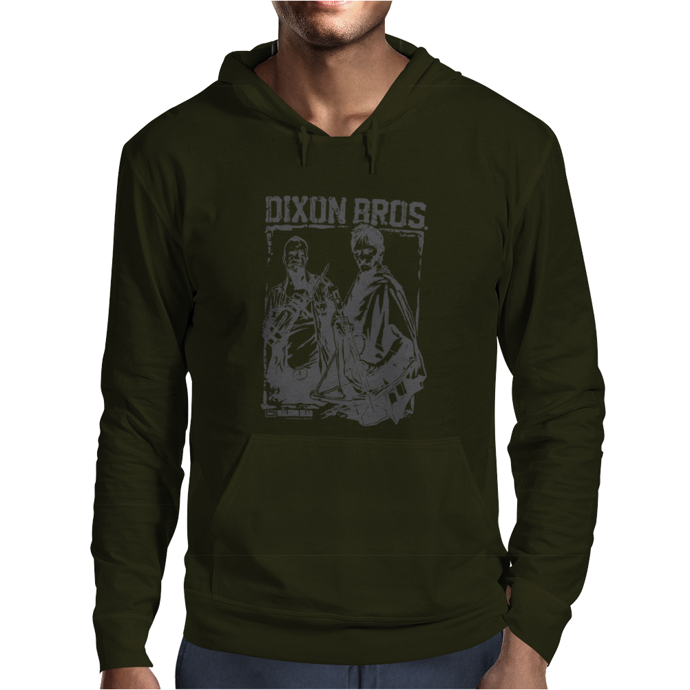 The Walking Dead Tv Show Daryl and Merle Dixon Brothers Zombies Mens Hoodie