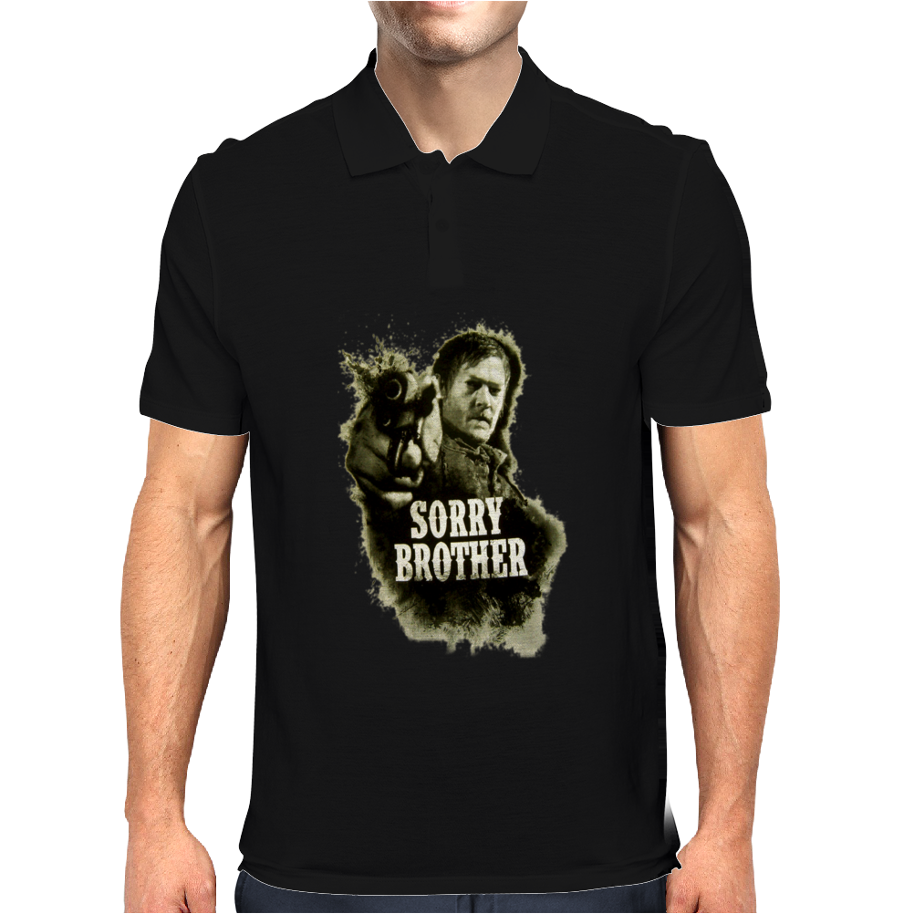 The Walking Dead Tv Show Daryl Dixon Sorry Brother Zombies Mens Polo