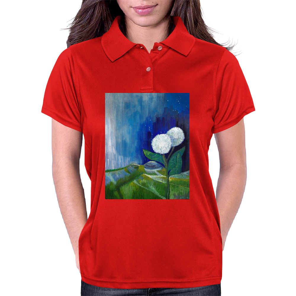 The White Flowers Womens Polo