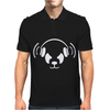 The White Panda Dj Remix Techno Mens Polo