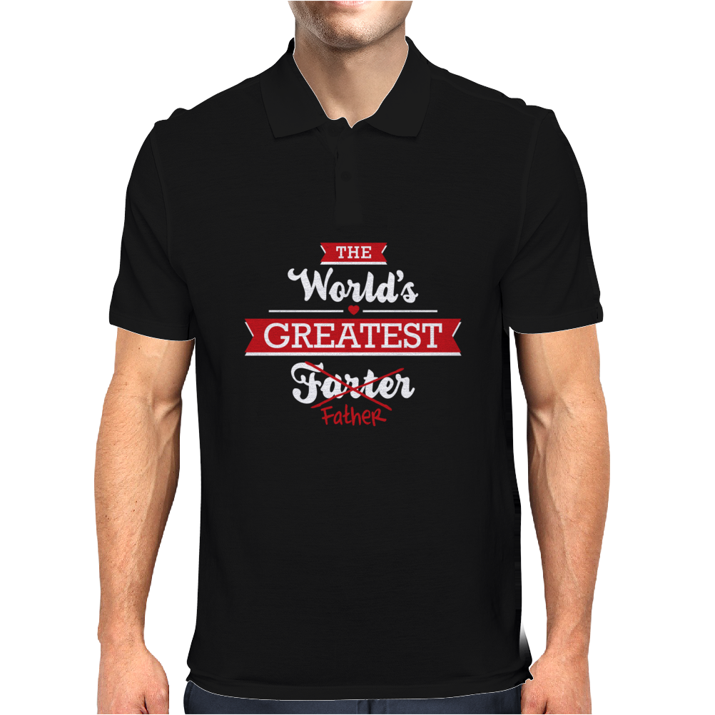 The world's greatest farter/father Mens Polo