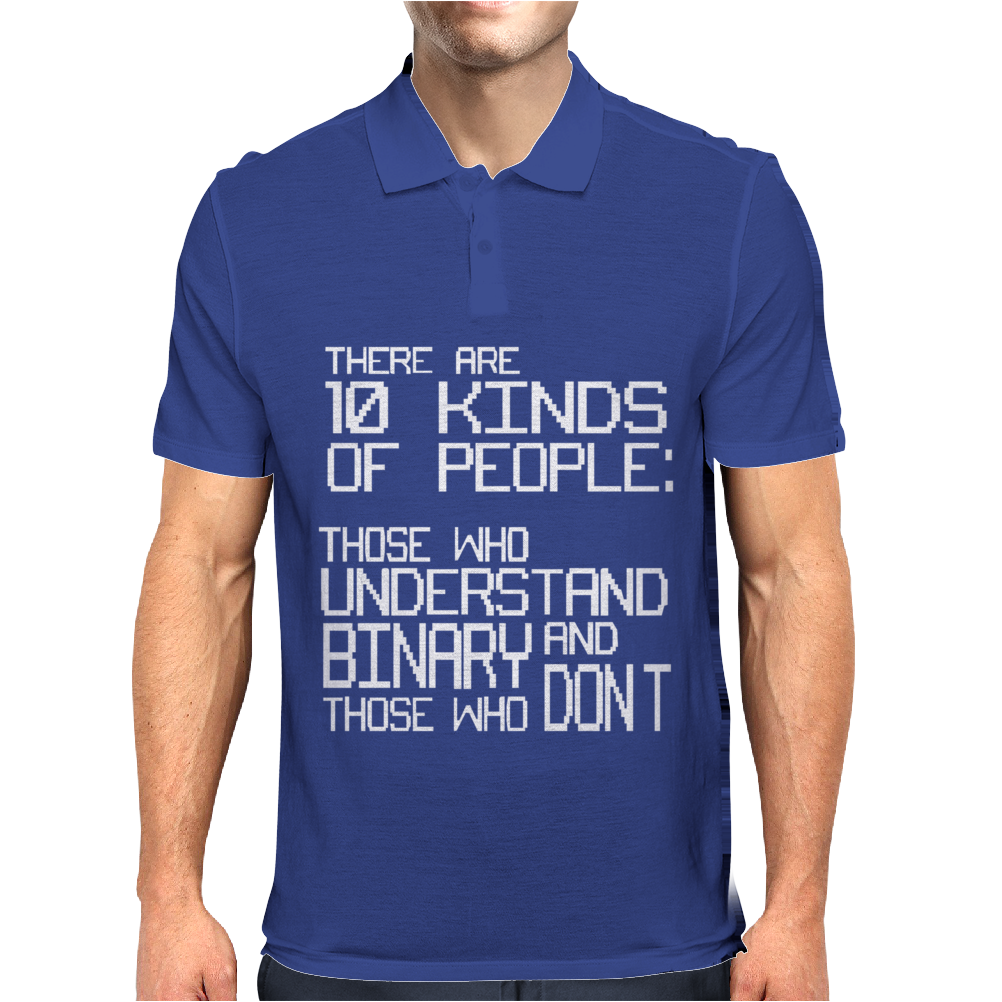 There are 10 Kinds of People Mens Polo