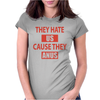 They Hate Us Cause They Anus Womens Fitted T-Shirt