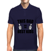 THIS DAD HAS THE BEST KIDS Mens Polo