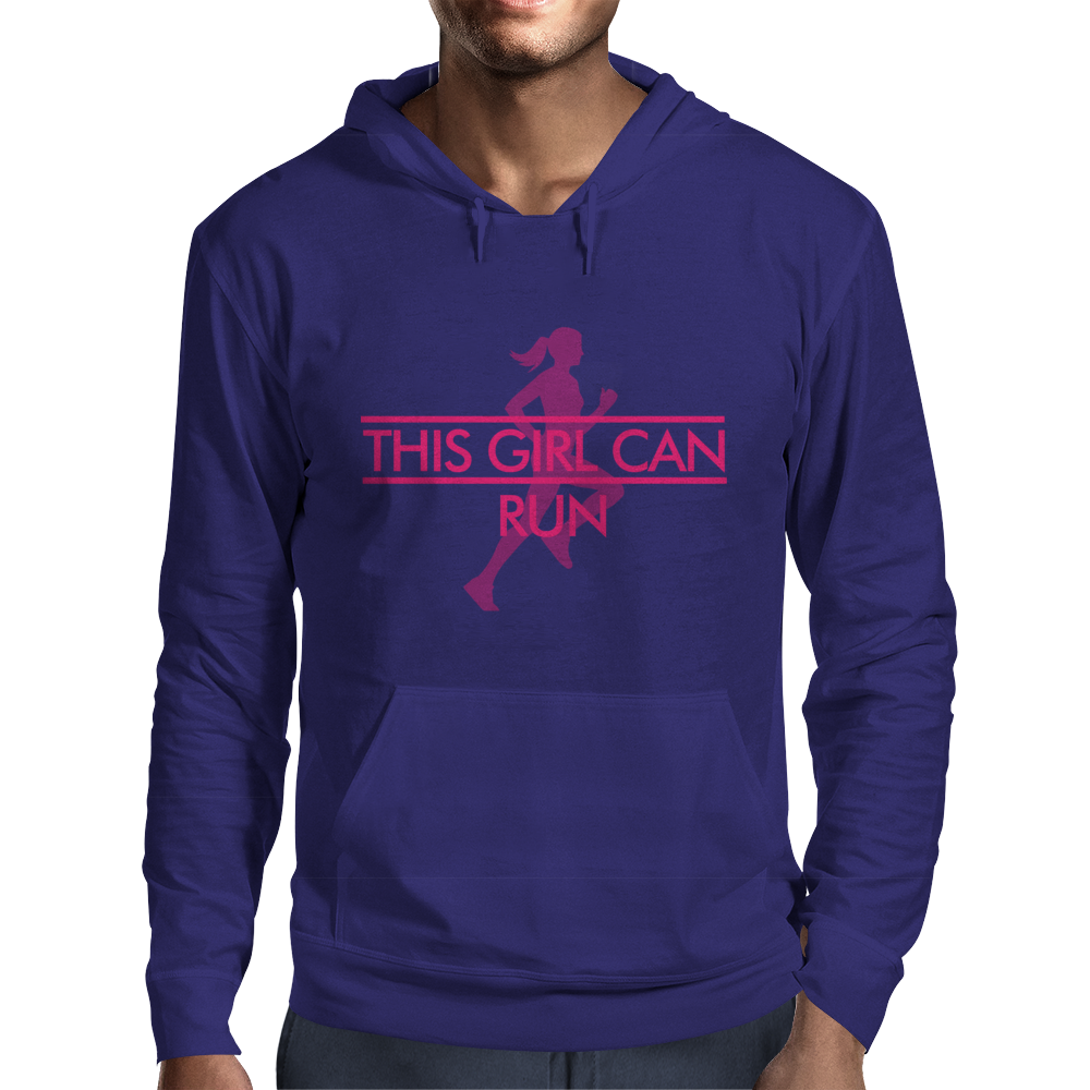 This Girl Can Run Mens Hoodie