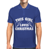 This Girl Loves Christmas Funny Mens Polo