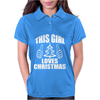 This Girl Loves Christmas Womens Polo
