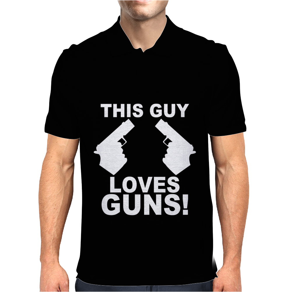 This Guy Loves Guns Mens Polo