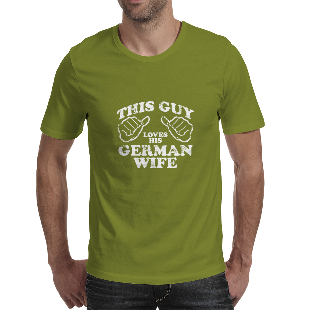 THIS GUY LOVES HIS GERMAN WIFE Mens T-Shirt