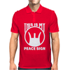 This Is My Peace Sign Mens Polo