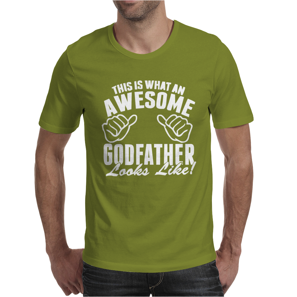 This Is What An Awesome Godfather Looks Like Mens T-Shirt