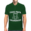 This Papa Loves His Grandkids Mens Polo