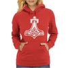 Thors Hammerretro Viking Norse fashion cool Womens Hoodie
