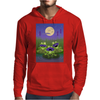 Three cute frogs singing Mens Hoodie