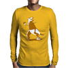 Throw t rex Mens Long Sleeve T-Shirt