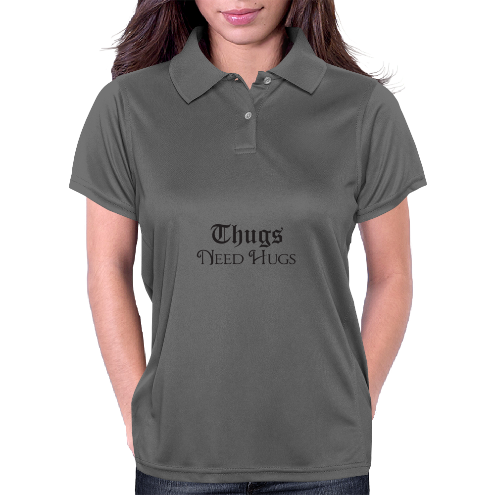Thugs Need Hugs Womens Polo
