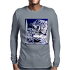 Tiger Etched Mens Long Sleeve T-Shirt