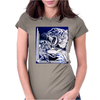 Tiger Etched Womens Fitted T-Shirt