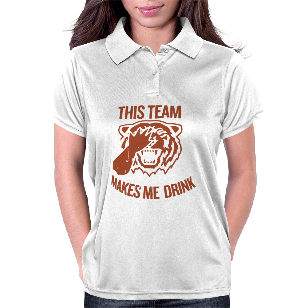 Tiger This Team Makes Me Drink Womens Polo