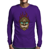 TIKI FLAMES Mens Long Sleeve T-Shirt