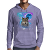 Timber Wolf MidNight Forest Mens Hoodie