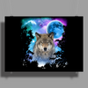 Timber Wolf MidNight Forest Poster Print (Landscape)