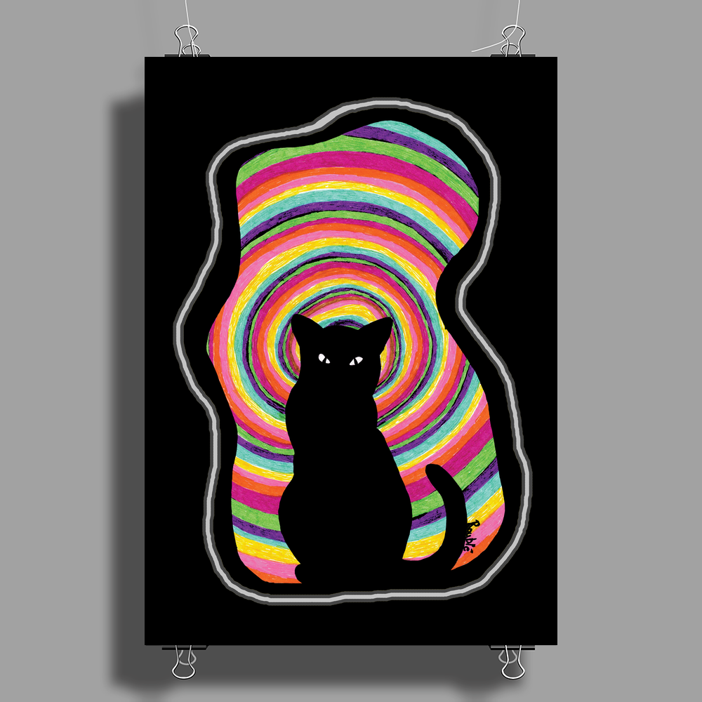time for child stories: the BLACK CAT by Rouble Rust Poster Print (Portrait)