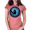 time for child stories: the EVIL OWL by Rouble Rust Womens Fitted T-Shirt