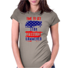 Time To Get Star Spangled Hammered Flug Womens Fitted T-Shirt
