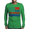 Time To Get Star Spangled Hammered Mens Long Sleeve T-Shirt