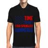Time To Get Star Spangled Hammered Mens Polo