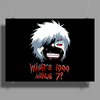 "Tokyo Ghoul - ""What's 1000 minus 7?"" (Minimalistic) Poster Print (Landscape)"