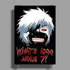 "Tokyo Ghoul - ""What's 1000 minus 7?"" (Minimalistic) Poster Print (Portrait)"