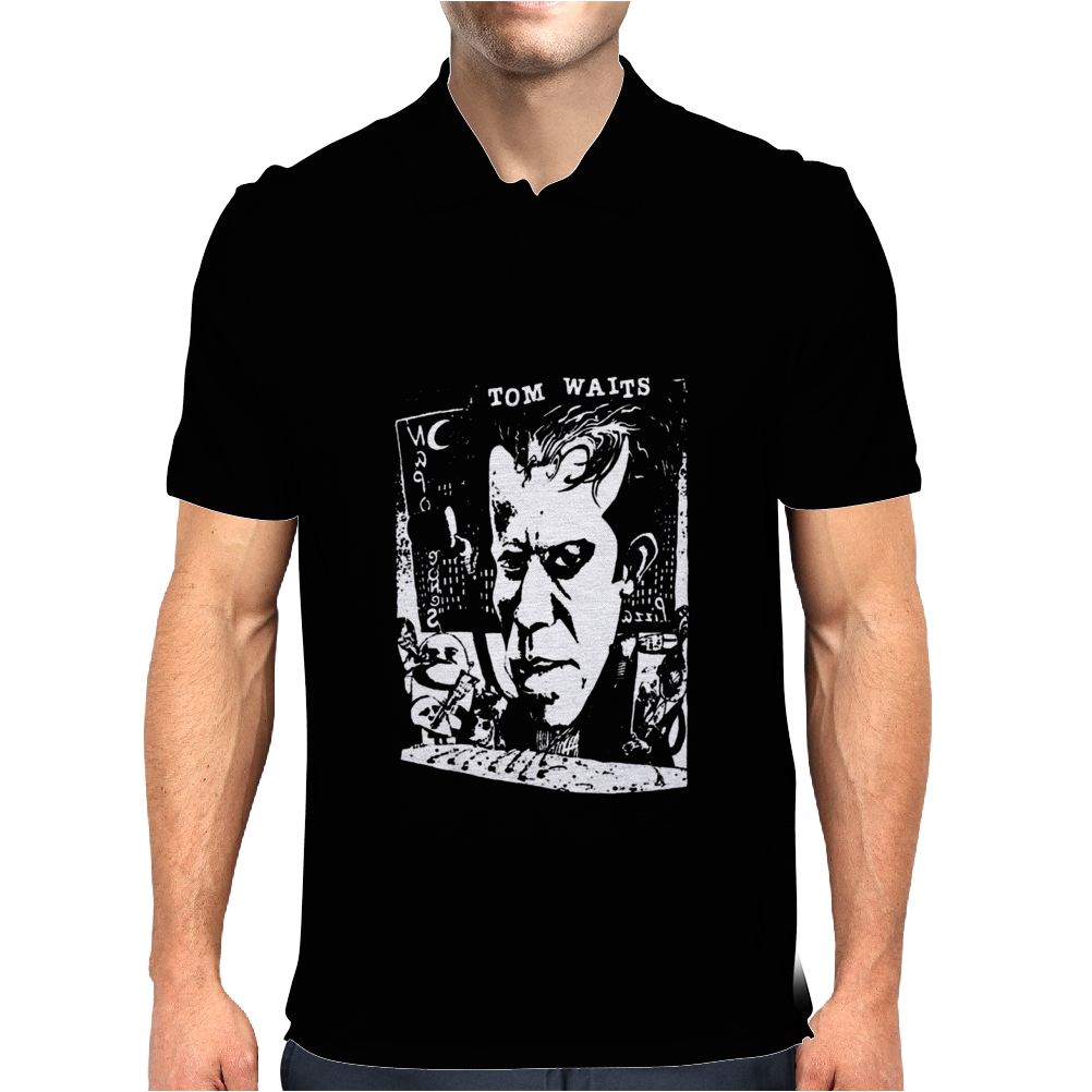 Tom Waits Cele Singer Music Mens Polo