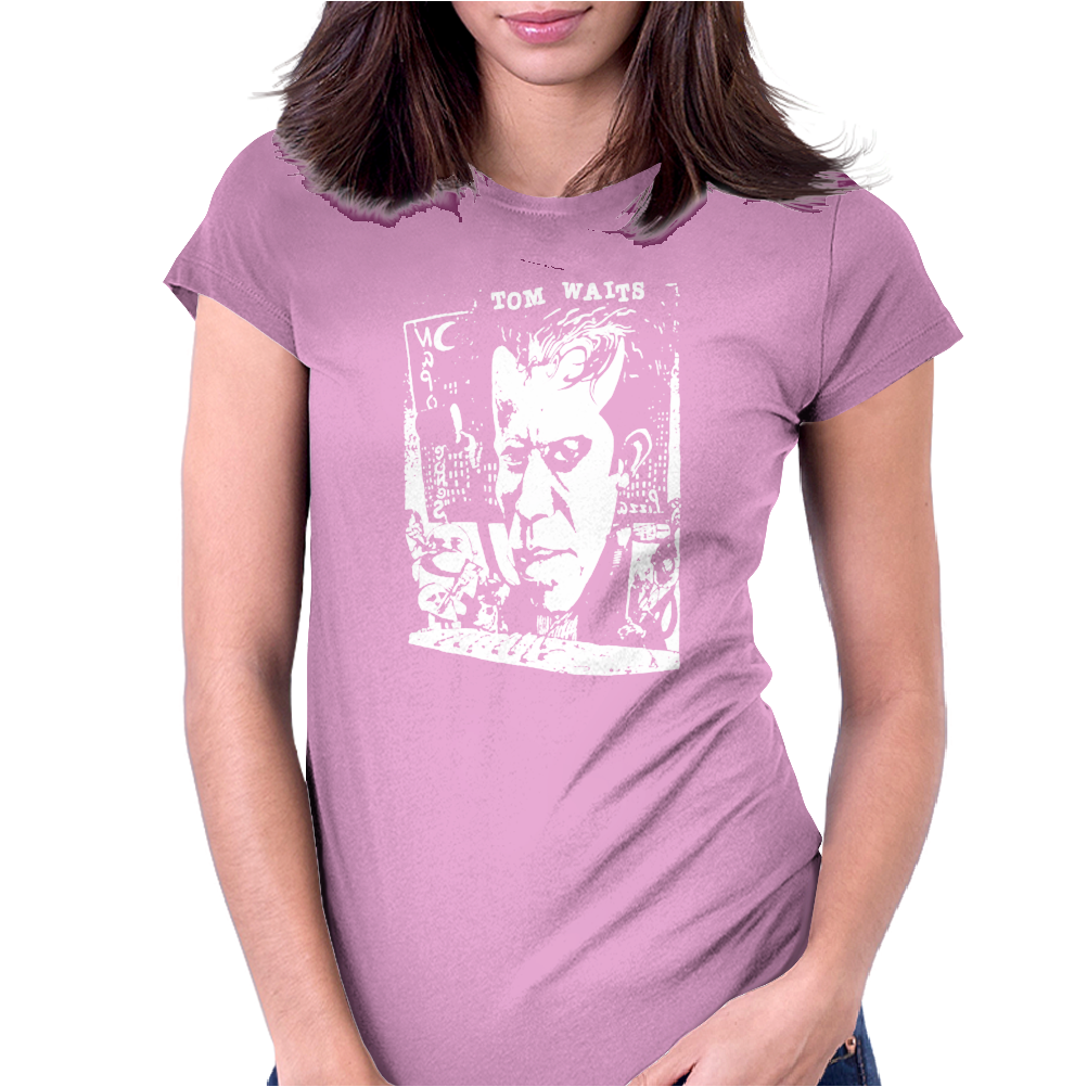 Tom Waits Cele Singer Music Womens Fitted T-Shirt