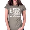 Tom Waits Inspired Womens Fitted T-Shirt