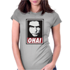 Tommy Wiseau OHAI obey The Room Womens Fitted T-Shirt