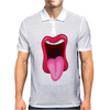 Tongue Sticking Out Mouth and Lips Mens Polo