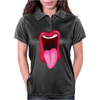 Tongue Sticking Out Mouth and Lips Womens Polo