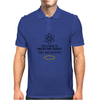 Too Stupid to Understand Science? Black Text Mens Polo
